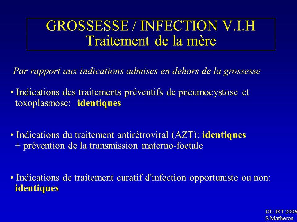 GROSSESSE / INFECTION V.I.H Traitement de la mère