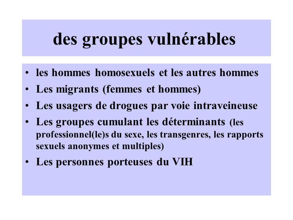 des groupes vulnérables