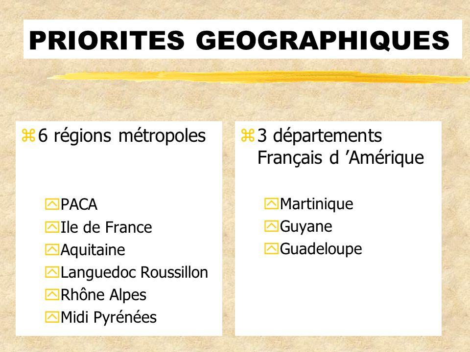 PRIORITES GEOGRAPHIQUES