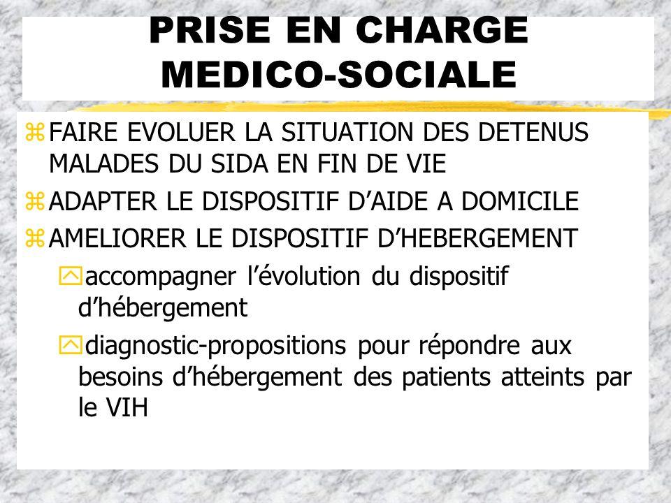 PRISE EN CHARGE MEDICO-SOCIALE
