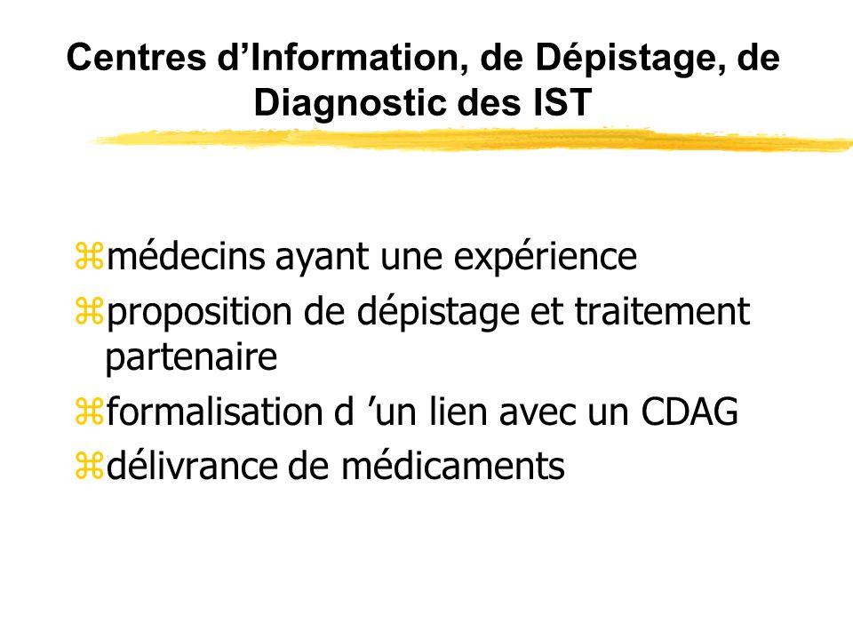 Centres d'Information, de Dépistage, de Diagnostic des IST