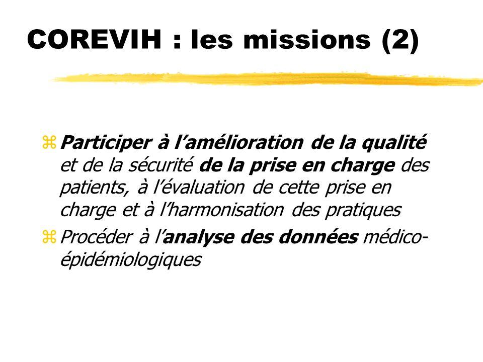 COREVIH : les missions (2) (Décret du 15 novembre 2005)