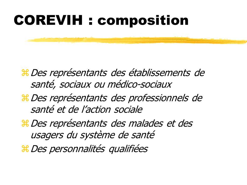 COREVIH : composition (Décret du 15 novembre 2005)