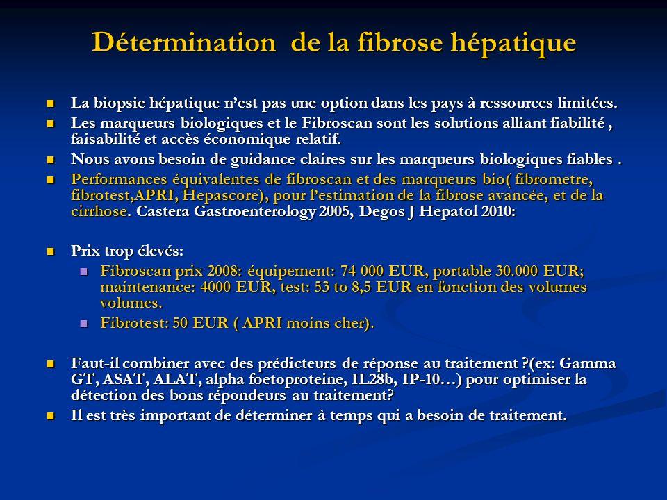 Détermination de la fibrose hépatique