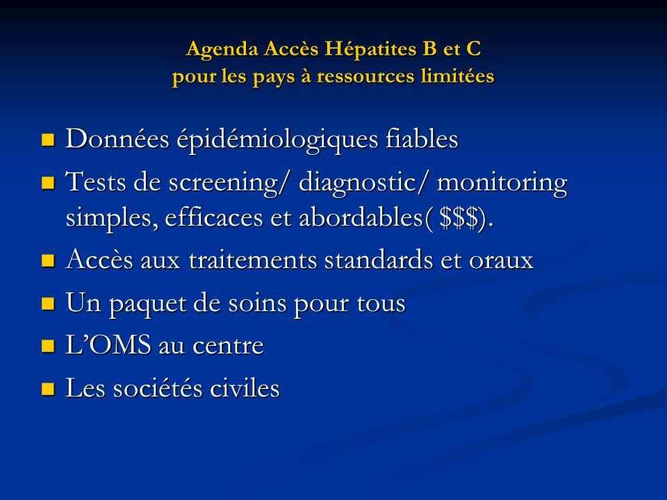 Agenda Accès Hépatites B et C pour les pays à ressources limitées