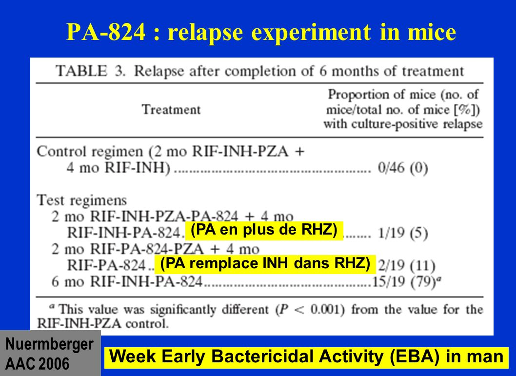 PA-824 : relapse experiment in mice