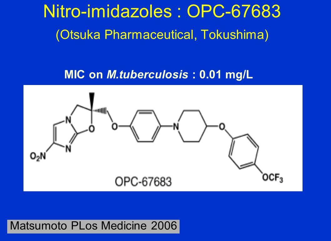 Nitro-imidazoles : OPC-67683 (Otsuka Pharmaceutical, Tokushima)