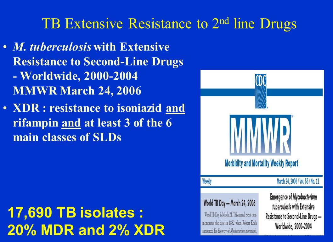 TB Extensive Resistance to 2nd line Drugs