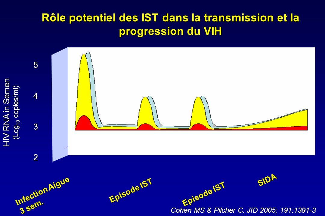 Rôle potentiel des IST dans la transmission et la progression du VIH