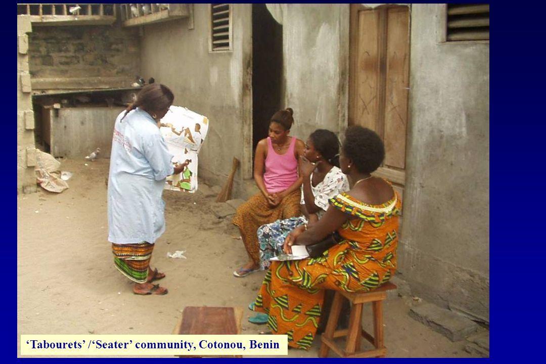 'Tabourets' /'Seater' community, Cotonou, Benin