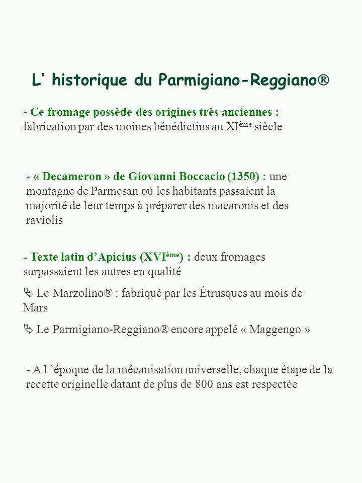 L' historique du Parmigiano-Reggiano
