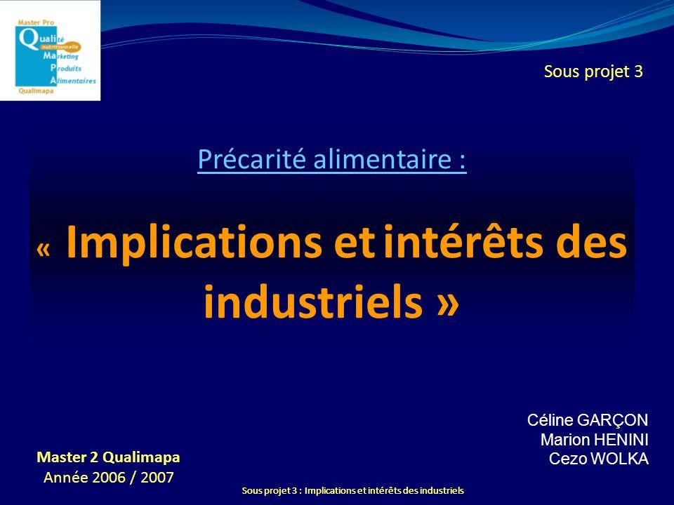 Précarité alimentaire : « Implications et intérêts des industriels »