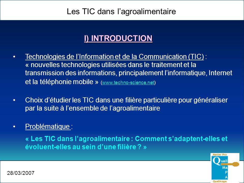 Les TIC dans l'agroalimentaire