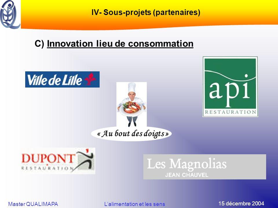 IV- Sous-projets (partenaires)