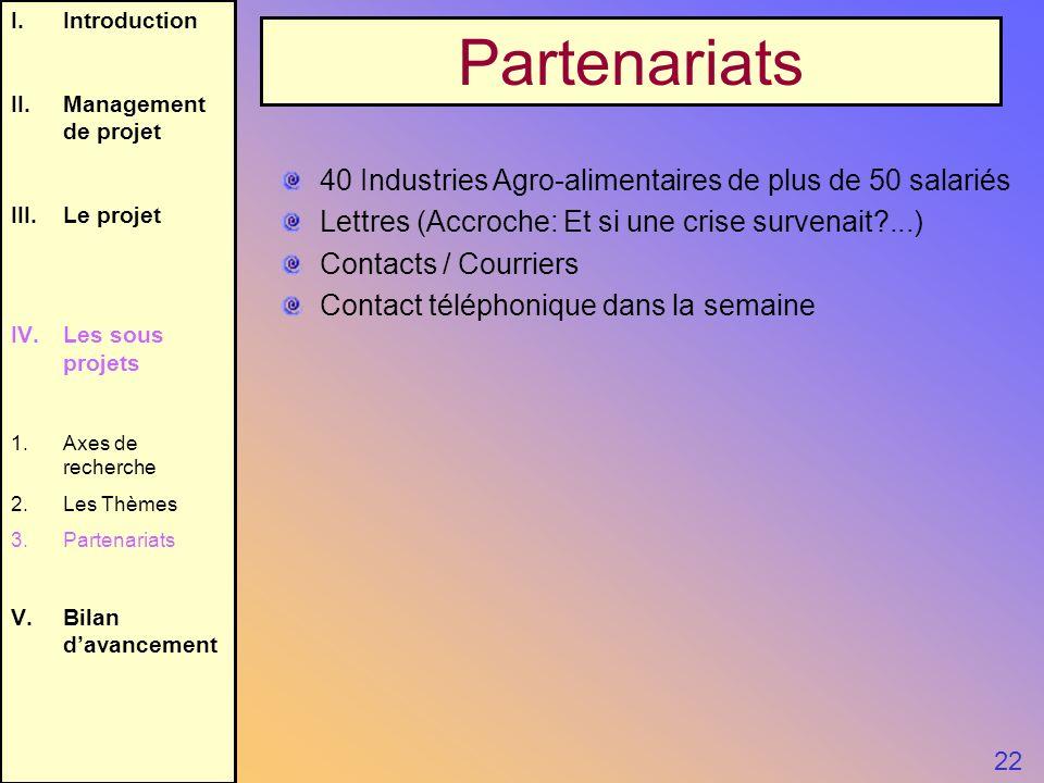 Partenariats 40 Industries Agro-alimentaires de plus de 50 salariés