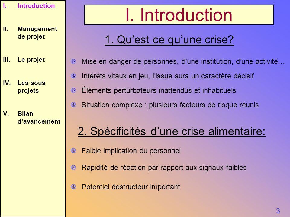 I. Introduction 1. Qu'est ce qu'une crise