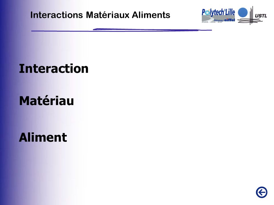 Interactions Matériaux Aliments