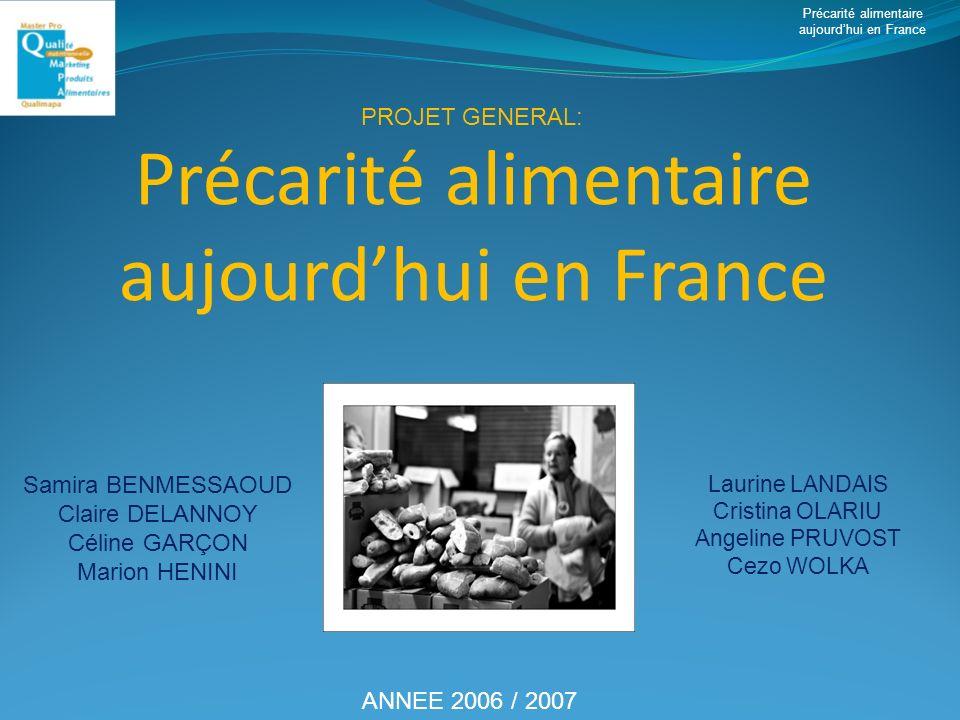 Précarité alimentaire aujourd'hui en France