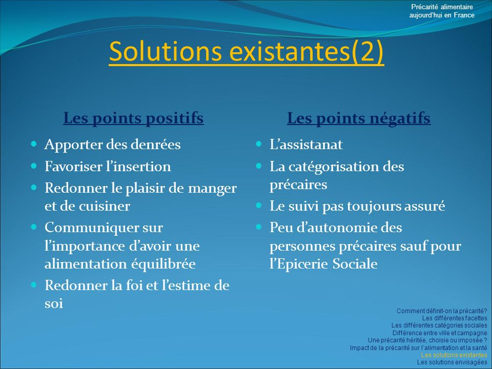 Solutions existantes(2)