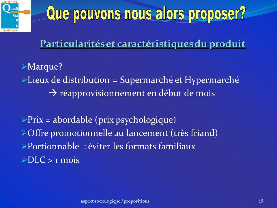 Particularités et caractéristiques du produit
