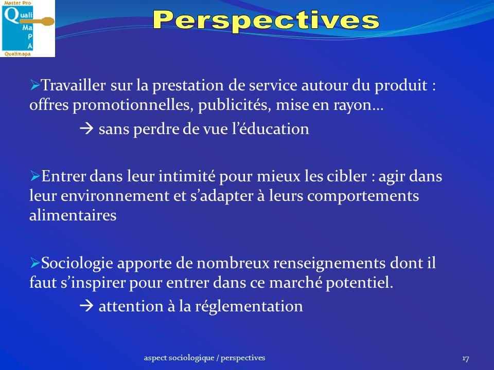 Perspectives Travailler sur la prestation de service autour du produit : offres promotionnelles, publicités, mise en rayon…