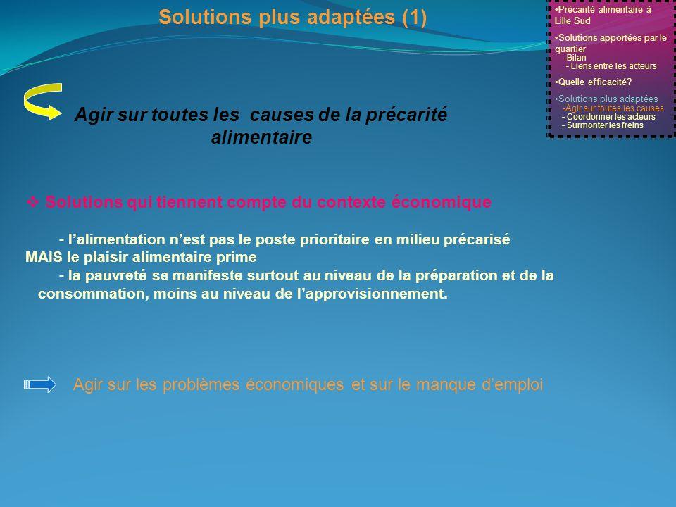 Solutions plus adaptées (1)