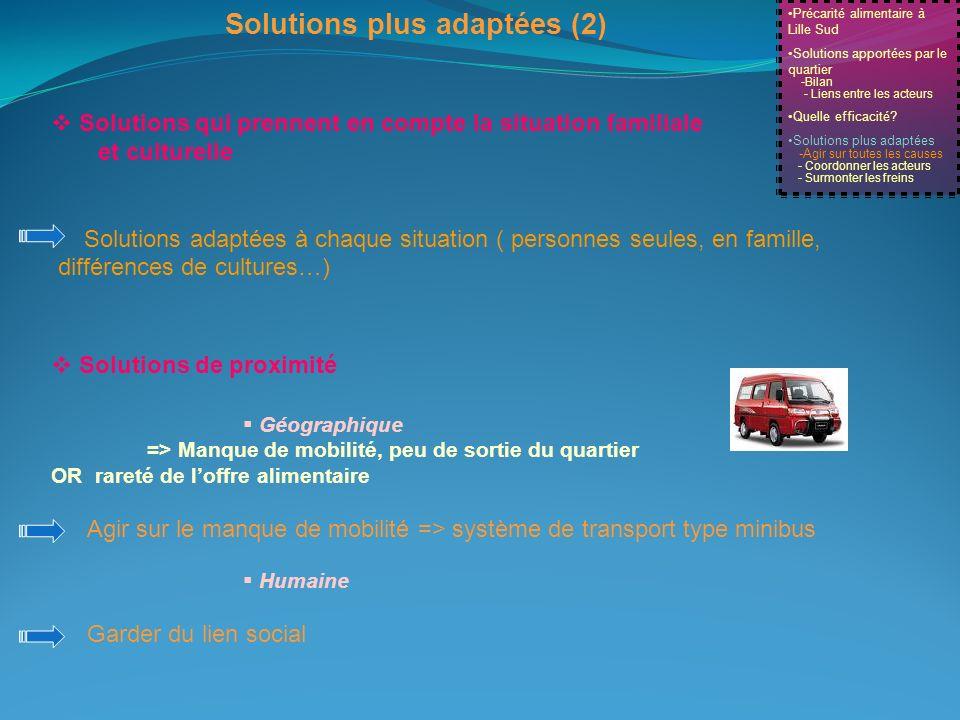 Solutions plus adaptées (2)