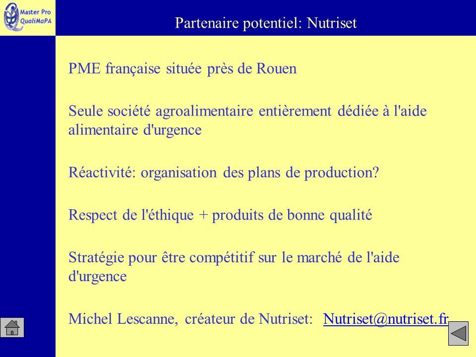 Partenaire potentiel: Nutriset