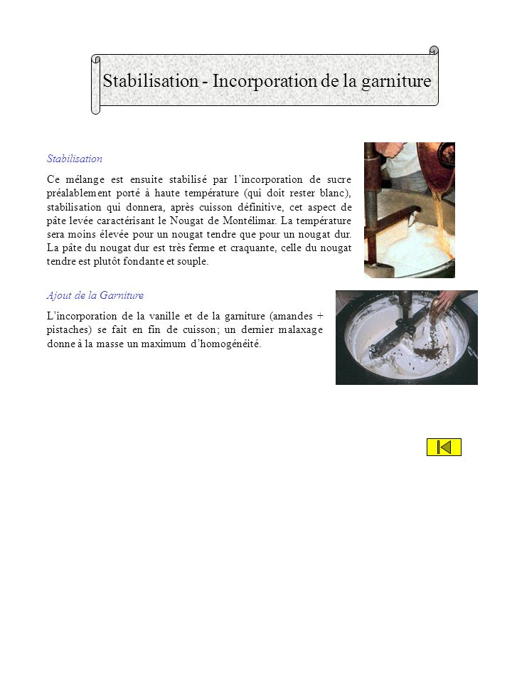 Stabilisation - Incorporation de la garniture