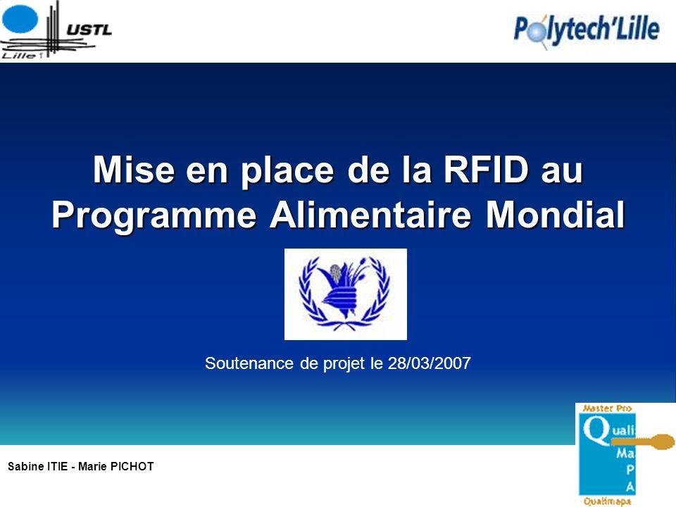 Mise en place de la RFID au Programme Alimentaire Mondial