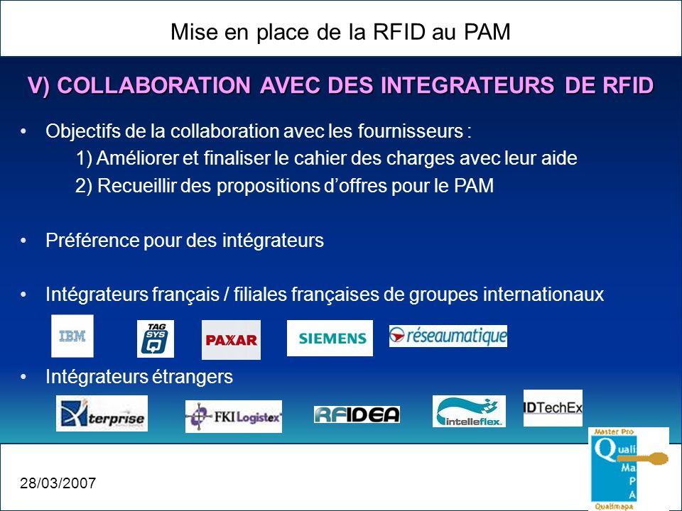 V) COLLABORATION AVEC DES INTEGRATEURS DE RFID