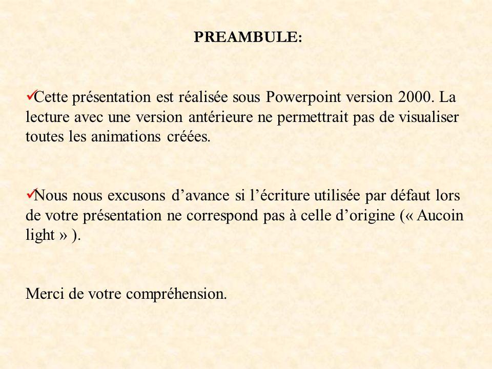 PREAMBULE: