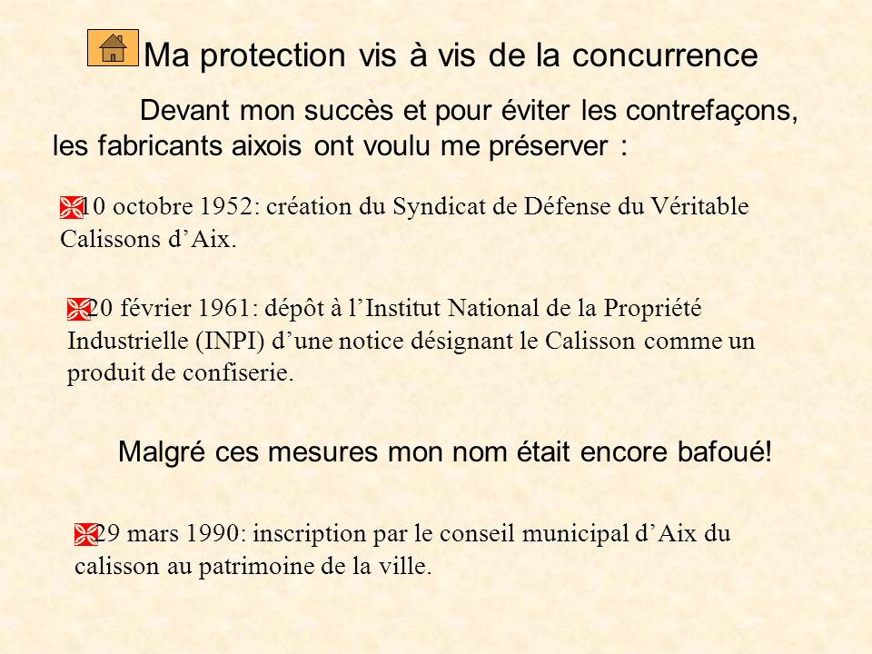 Ma protection vis à vis de la concurrence
