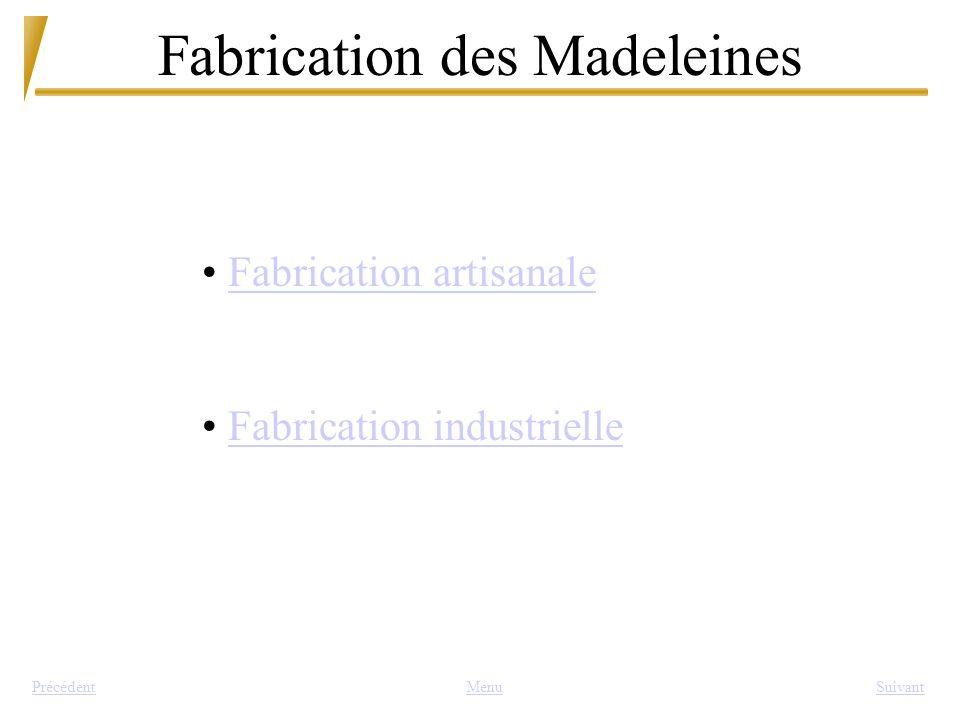 Fabrication des Madeleines