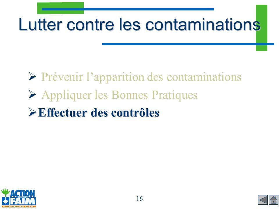 Lutter contre les contaminations
