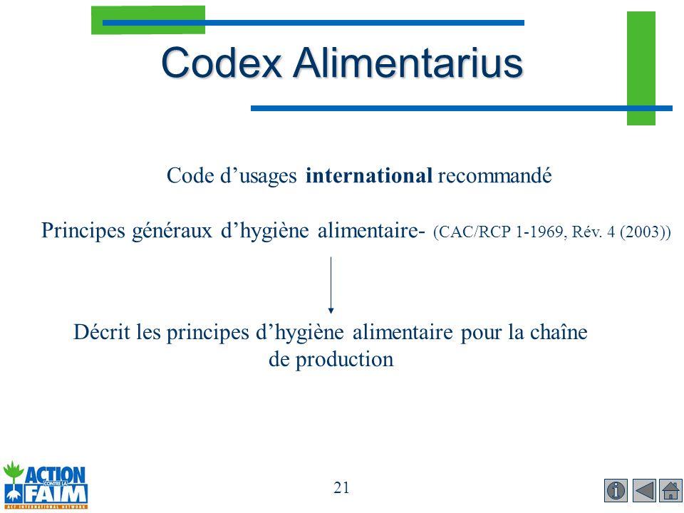 Code d'usages international recommandé