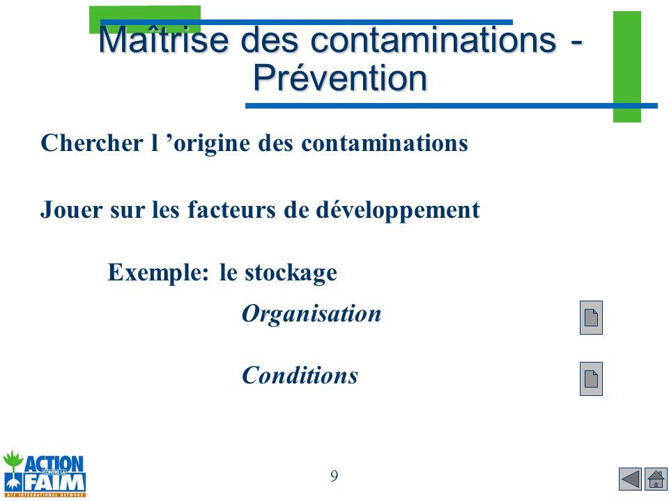 Maîtrise des contaminations - Prévention