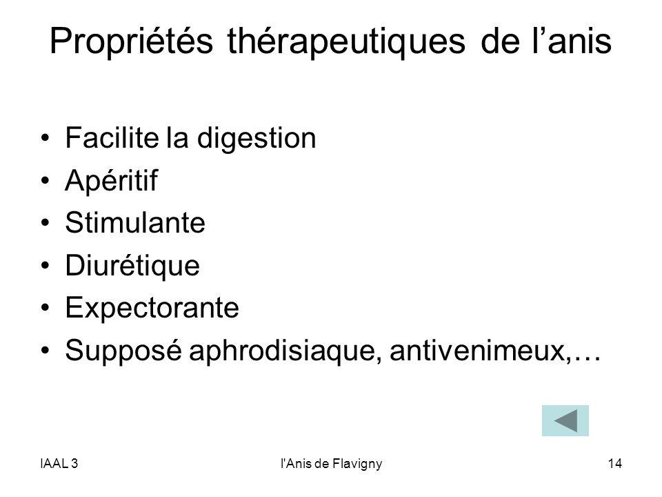 Propriétés thérapeutiques de l'anis