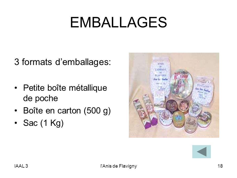 EMBALLAGES 3 formats d'emballages: Petite boîte métallique de poche