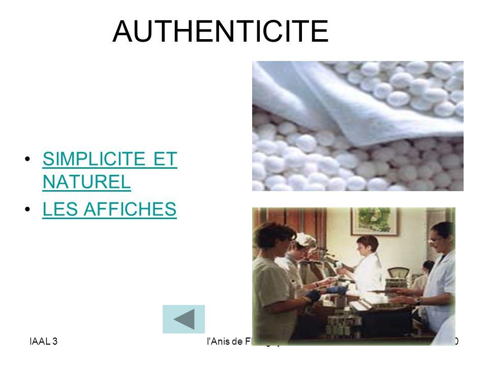 AUTHENTICITE SIMPLICITE ET NATUREL LES AFFICHES IAAL 3