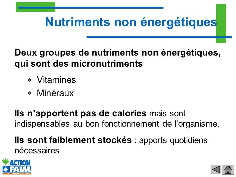 Nutriments non énergétiques