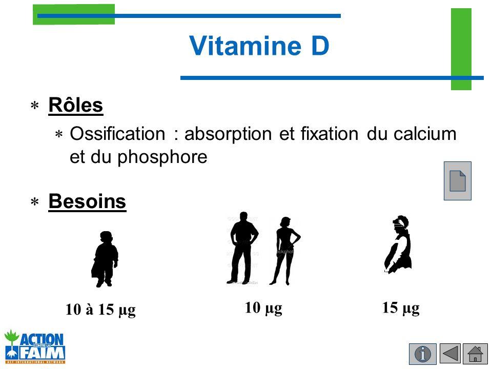 Vitamine D Rôles Besoins