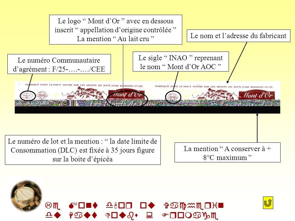 Le Mont d or ou Vacherin du Haut Doubs : Fromage AOC