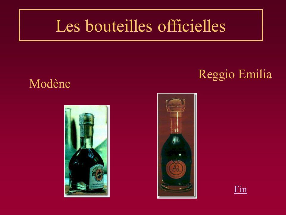 Les bouteilles officielles