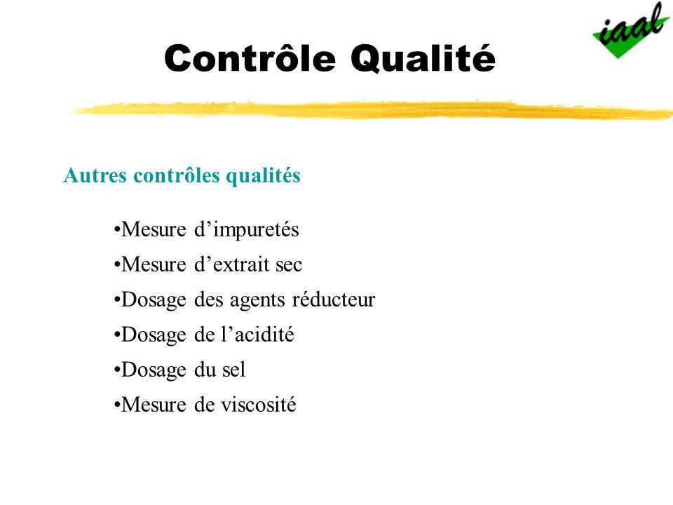 Contrôle Qualité Autres contrôles qualités Mesure d'impuretés