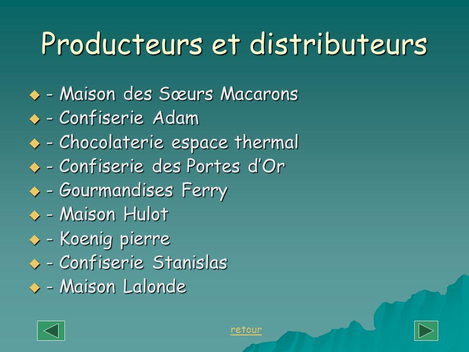 Producteurs et distributeurs