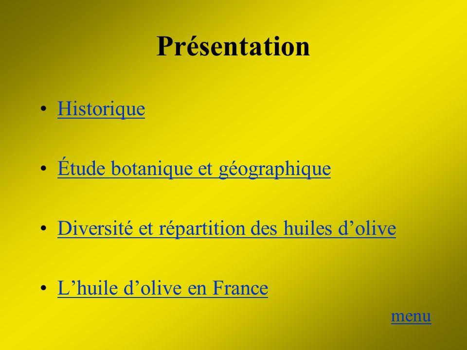 Présentation Historique Étude botanique et géographique