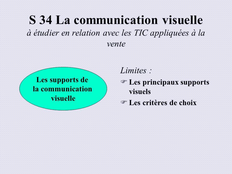 S 34 La communication visuelle à étudier en relation avec les TIC appliquées à la vente