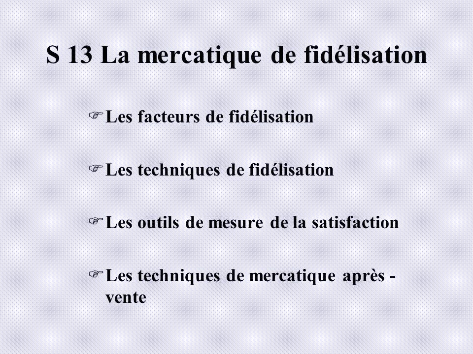 S 13 La mercatique de fidélisation