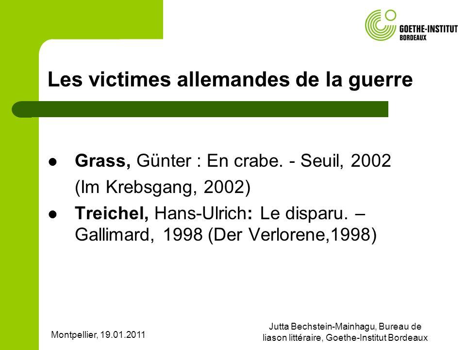 Les victimes allemandes de la guerre